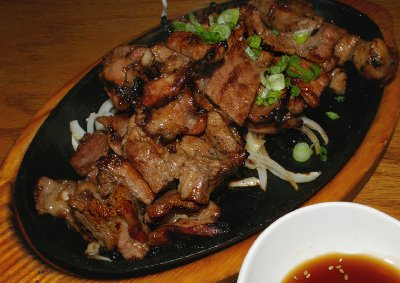 Pork ribs at The Honey Pig Korean BBQ Tacoma, Washington.