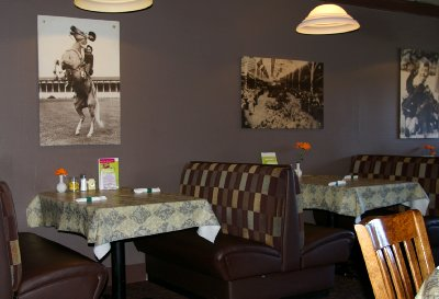 The dining room at Charlie's Restaurant in Puyallup, Washington.