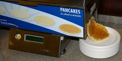 The pancake machine at the Holiday Inn Express in Puyallup, Washington.