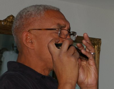 Professional harmonica player and entertainer Jay Mabin.