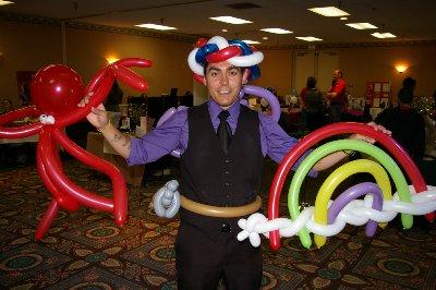 John London the Kidz Magician at the JBLM Small Business EXPO Tacoma, Washington.