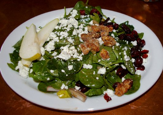 Spinach and Pear Salad at G. Donnalson's in the Proctor District Tacoma - image.