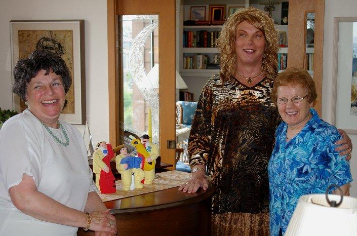 Karen Seinfeld, Rita Morkrid, and Sister Peggy Murphy.