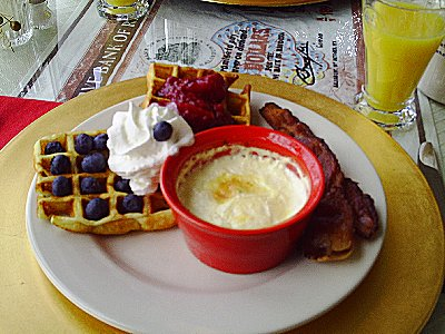 The baked egg breakfast at The Queen of the Valey County Inn in La Conner, Washington - photo.