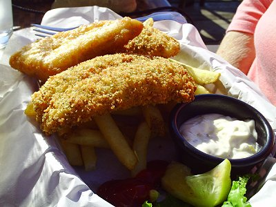 Fish and Chips from the Waterfront Cafe in La Conner, Washington - Photo.