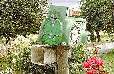 An interesting mailbox in La Conner, Washington - Photo.