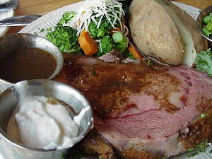 The excellent Prime Rib at La Conner Seafood and Prime Rib House.