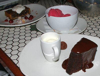 our three desserts from the Palace Kitchen.