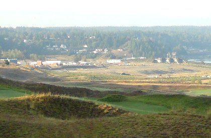 Chambers Bay Golf Course home of the 2015 U.S. Open Championship in University Place, Washington.