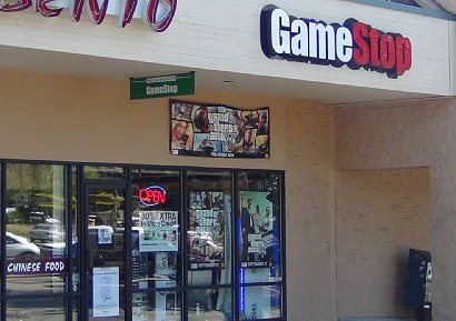 GameStop computer game shop in Tacoma, Washington.