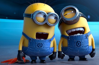 Minions from Despicable Me 2.