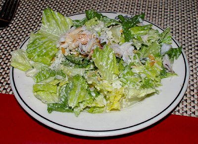 The Kicked Cesar Salad at Salty's Restaurant in Redondo, Washington.
