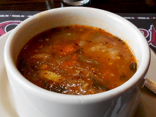 Minestrone soup at the Lynnwood Old Spaghetti Factory - image.