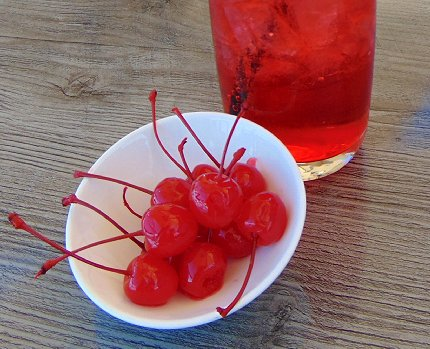 The first bunch of cherries for my Shirley Temple - image.