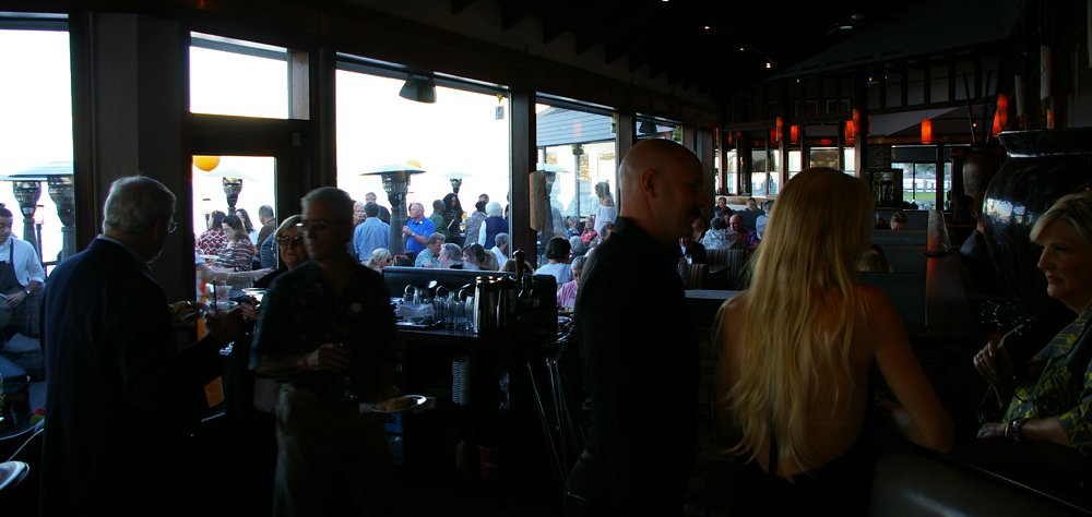 People celebrating at the Lobster Shop in Tacoma or its 35th anniversary - image.