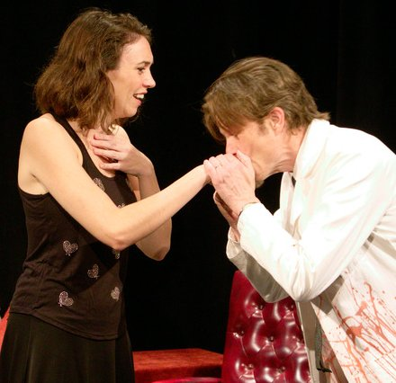Natalie Anne More and Tom Stewart in Welcome to My Secret Lair at Theater Schmeater - image.