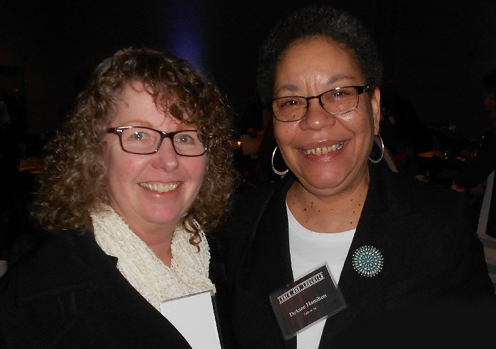 Debbie Irwin and DeAnne Hamilton at Lunch and Laughter for Community Health in Tacoma - image.