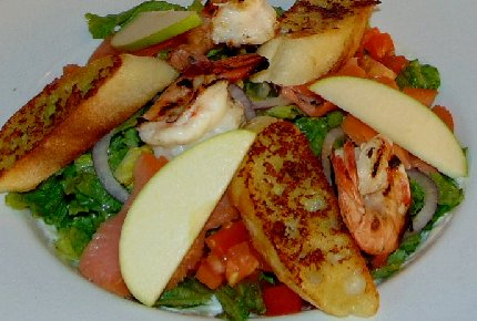 The Seafood Passion Salad from The Chanterelle in Edmonds, Washington - image.