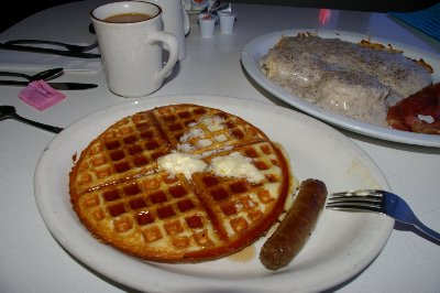 Breakfast at Frankie's Bar and Grill in Lacey, Washington - Photo.