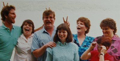 The Harrington siblings from the left: Jimmy, Peggy, Joe, Marie, Kate, Pat and Michelle in front.