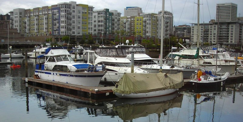 The view from Johnny's Dock, on the beautiful Thea Foss Waterway - Tacoma, Washington.