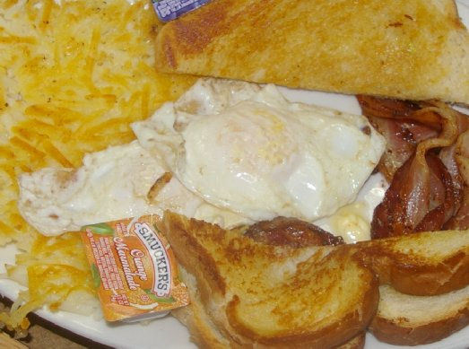 Bacon and eggs at Malarkey's Pool & Brew in Tacoma - image.