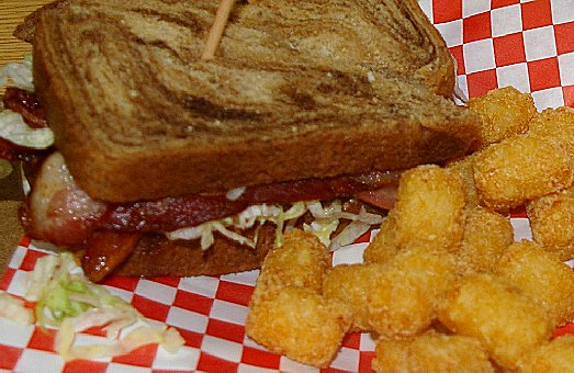 A bacon, lettuce, and tomato sandwich at Malarkey's Pool & Brew in Tacoma - image.