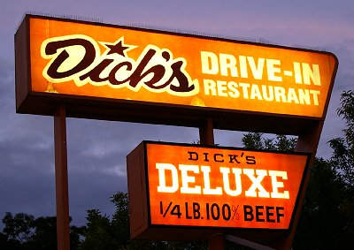 Dick's Drive-in Restaurant on Broadway in Seattle, Washington.