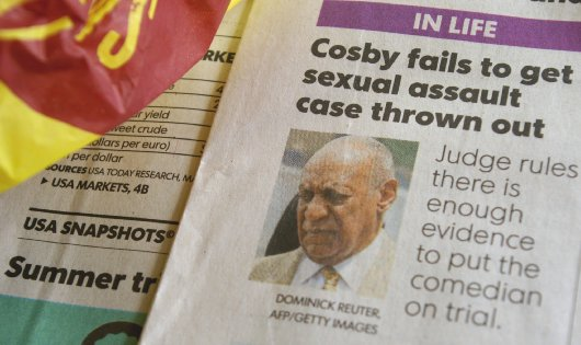 Bill Cosby image in the USA Today - image.