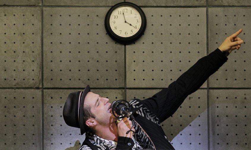 Bryan Fenkart as Huey in the National Tour of MEMPHIS - Photo: Paul Kolnik