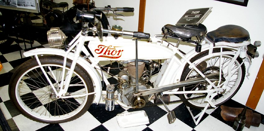 An antique Thor motorcycle in Chehalis, Washington.