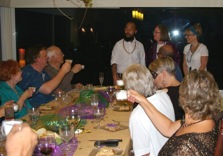 New Orleans Mardi Gras Dinner Party for FISH Food Banks.