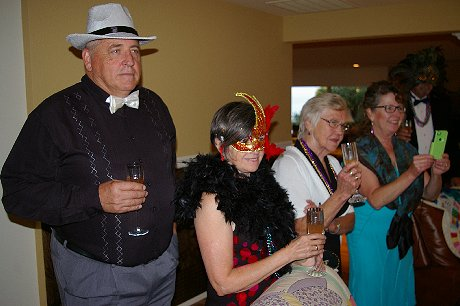 People being welcomed to the Mardi Gras Dinner Event, a FISH donation - image.