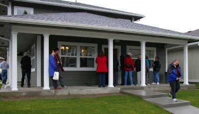 New home dedication by Habitat for Humanity in Tacoma, Washington - Photo.