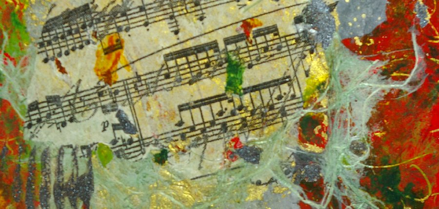 Musical Memories by Artist Nola V. Tresslar in mixed media.