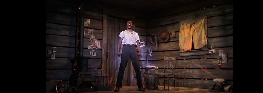Jud Fry (Kyle Scatliffe) in Rodgers & Hammerstein's Oklahoma! at The 5th Avenue Theatre. Review. Photo by Chris Bennion