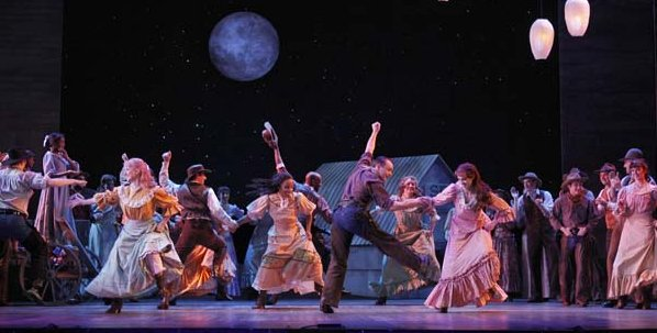 The cast of Rodgers & Hammerstein's Oklahoma! at The 5th Avenue Theatre. Photo by Chris Bennion
