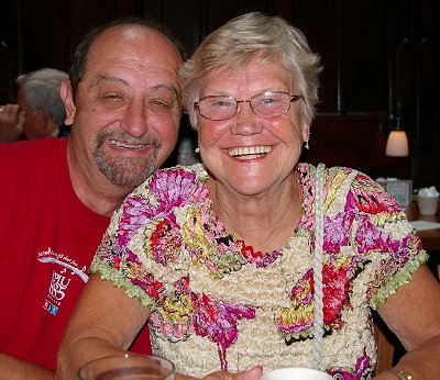 Donn and Darlene happy at breakfast if not with the food and service.