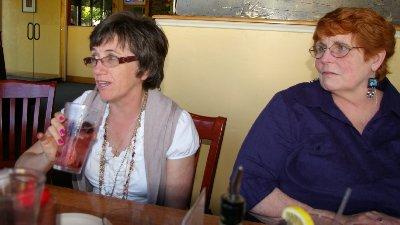 Vickie Erb and Peg Doman at Ramblin Jack's.