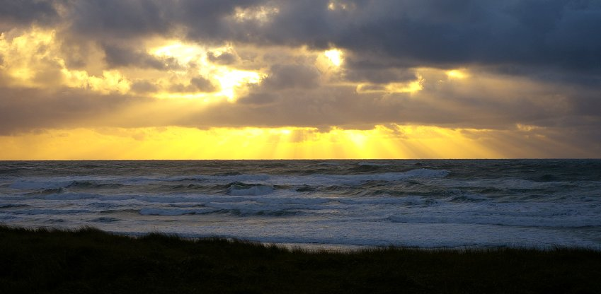 Sunset at Ocean Shores - Photo.