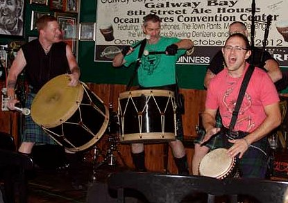 Participants in the 9th Annual Celtic Music Festival at the Galway Bay Irish Pub in Ocean Shores, Washington.