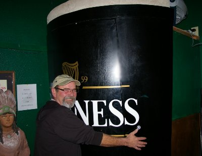 A man size glass of Guiness in Ocean Shores, Washington.