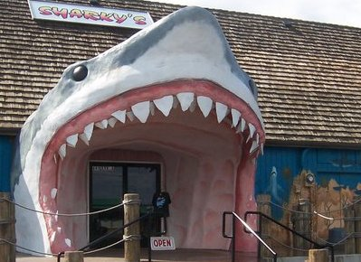 Sharky's gift shop in Ocean Shores, Washington.