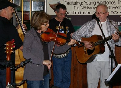 Bluegrass music at the Galway Bay in Ocean Shores, Washington.