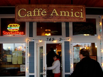 The Caffe Amici in Ocean Shores.