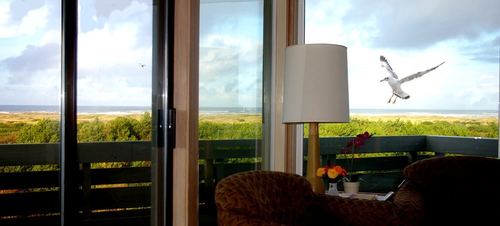 Our living room and view of The Grey Gull condo in Ocean Shores - image.