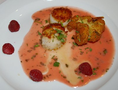 Scallops from the Waterstreet Cafe in Olympia, Washington.