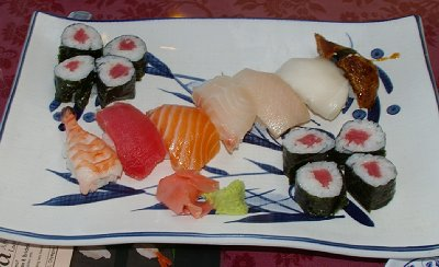Sushi at Fuji Restaurant in Olympia, Washington.