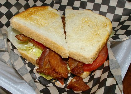 Bacon sandwishes from the Pirates Cove in Ocean Shores, Washington - image.
