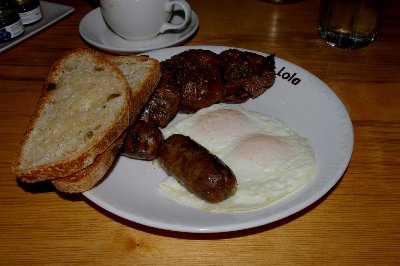 The pork and maple breakfast sausage will bring me back to Lola.